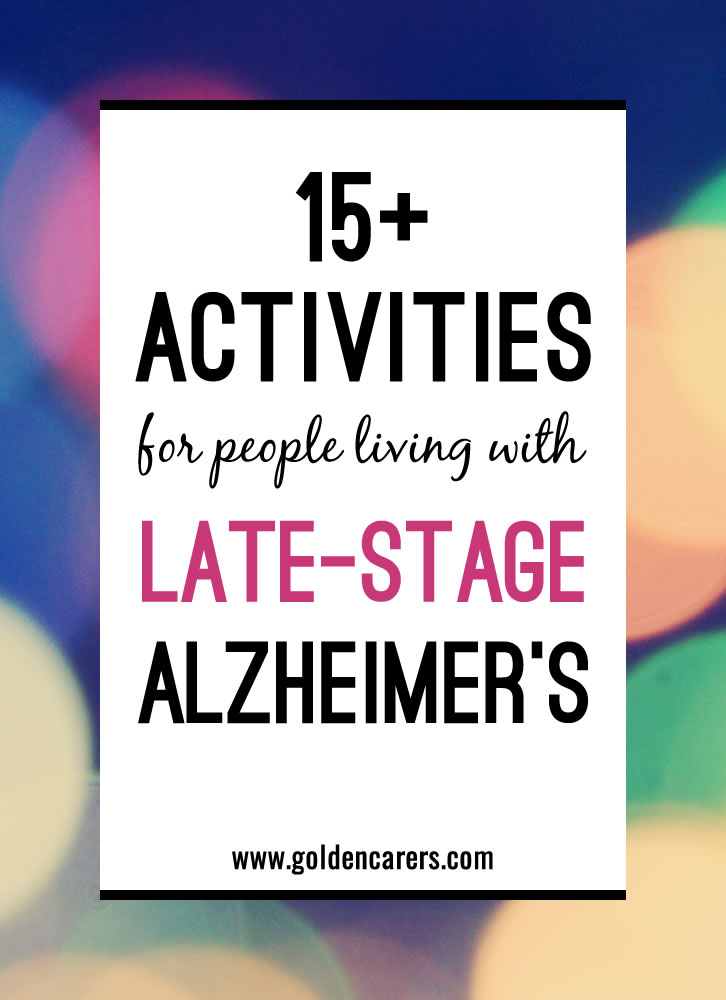 Diversional Dementia Activities Patients