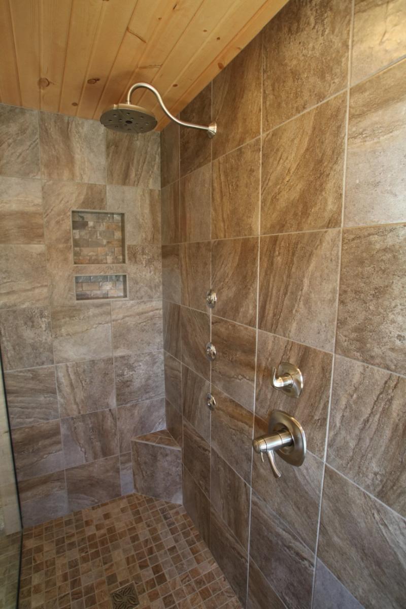 Walk In Shower Brushed Nickel Fixtures