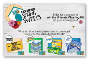 Certified Spring Sweeps - Win the Ultimate Cleaning Kit