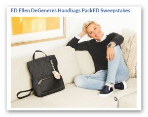 ED Ellen DeGeneres Handbags PackED Sweepstakes