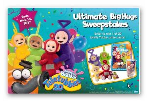 Enter to win the Teletubbies Ultimate BIG HUGS Sweepstakes