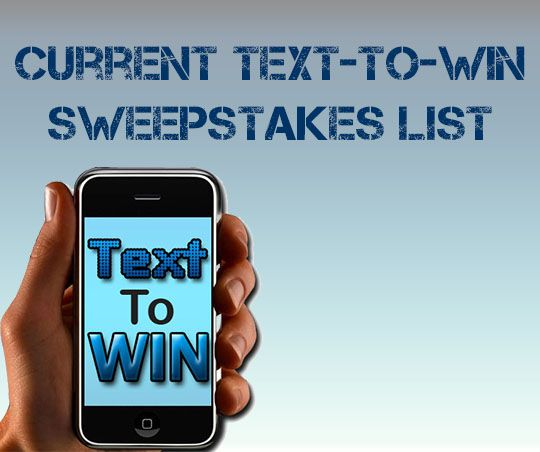 Text to Win Sweepstakes List