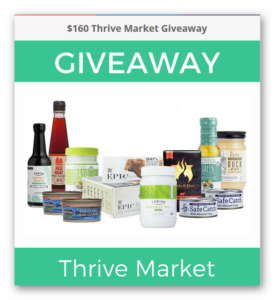 $160 Thrive Market Giveaway