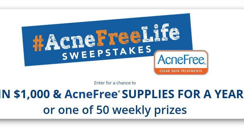 Acne Free Life Sweepstakes