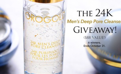 Orogold – 24K Men's Deep Pore Cleanser Giveaway