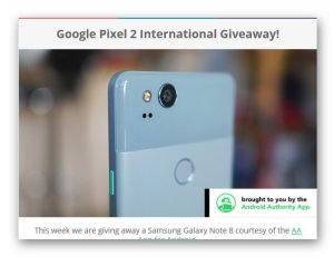 Google Pixel 2 International Giveaway