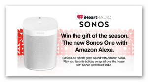 iHeartRadio & Sonos One Giveaway