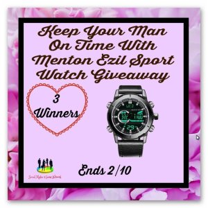 Keep Your Man On Time With Menton Ezil Sport Watch Giveaway