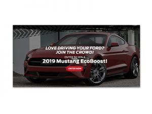 Win a 2019 Ford Mustang Ecoboost