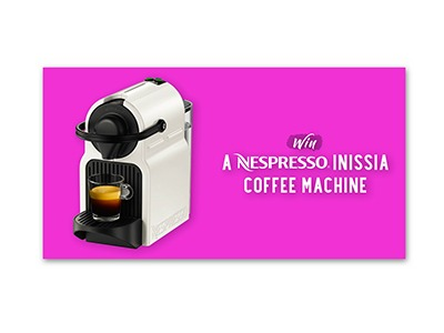 Win a Nespresso Inissia Coffee Machine