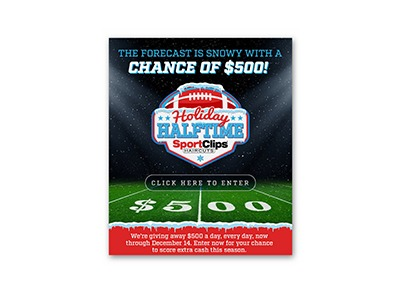Sports Clips Holiday Halftime Sweepstakes