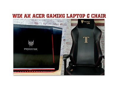 Win an ACER Gaming Laptop and Chair