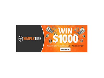 Simple Tire $1,000 Cash Giveaway