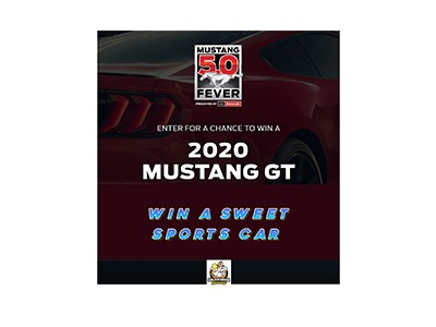 Win a 2020 Mustang GT