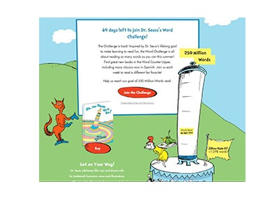 Dr. Seuss Word Challenge Sweepstakes