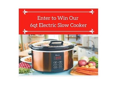 Win a 6QT Slow Cooker
