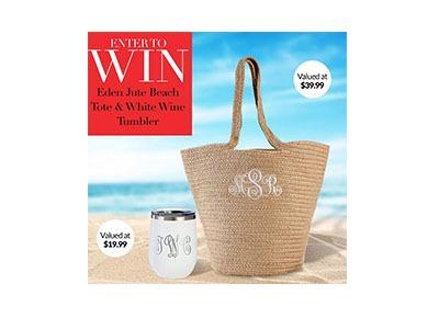 Win a Eden Jute Beach Tote and Wine Tumbler