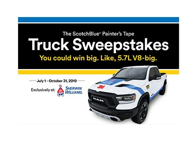 Scotch Blue Painter's Tape Truck Sweepstakes