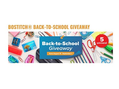 Bostitch Back-To-School Giveaway