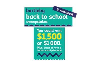Bartleby Back to School Sweepstakes