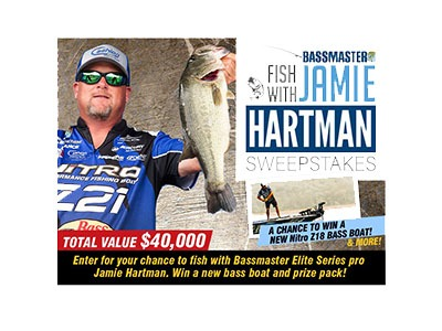 Bassmaster Fish with Jamie Hartman Sweepstakes