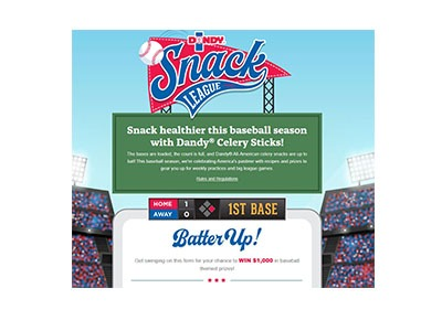 Dandy Snack League Sweepstakes