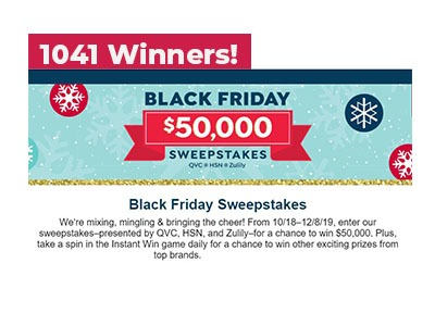QVC Black Friday Instant Win Sweepstakes