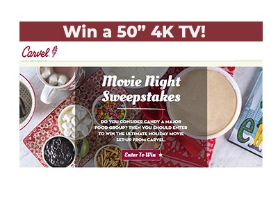 Carvel Movie Night Sweepstakes