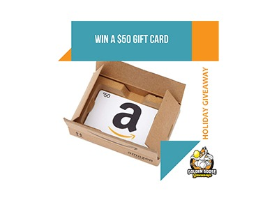 the Golden Goose Giveaways Holiday Giveaway Win a $50 Amazon Gift Card