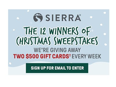 Sierra Holiday Sweepstakes
