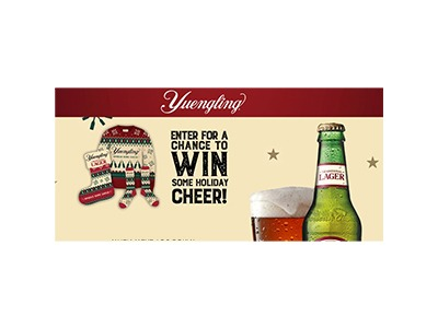 Yuengling Spread Some Cheer Text Sweepstakes