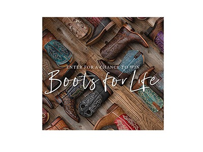 Boot Barn Free Boots for Life Sweepstakes