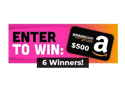 Weekly $500 Amazon Gift Card Giveaway