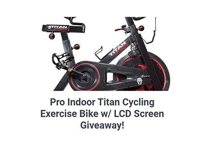 Titan Exercise Cycle Giveaway
