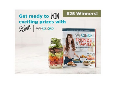 Ball Whole 30 Instant Win Text Game