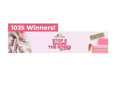 Garnier Stop and Share the Roses Giveaway