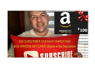 Amazon Gift Card Giveaway – Ends Mar 14th