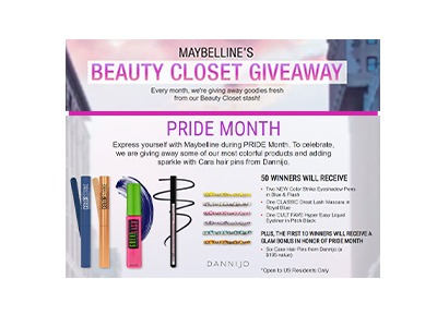 Maybelline's Beauty Closet Giveaway