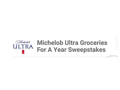 Michelob Ultra Groceries For A Year Sweepstakes