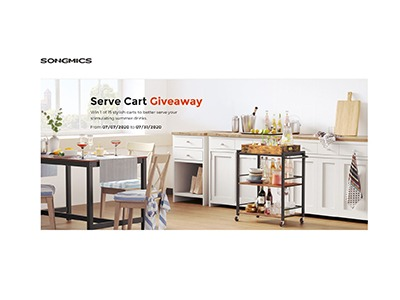 VASAGLE Kitchen Serve Cart Giveaway