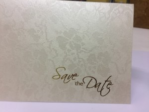 save the date foil