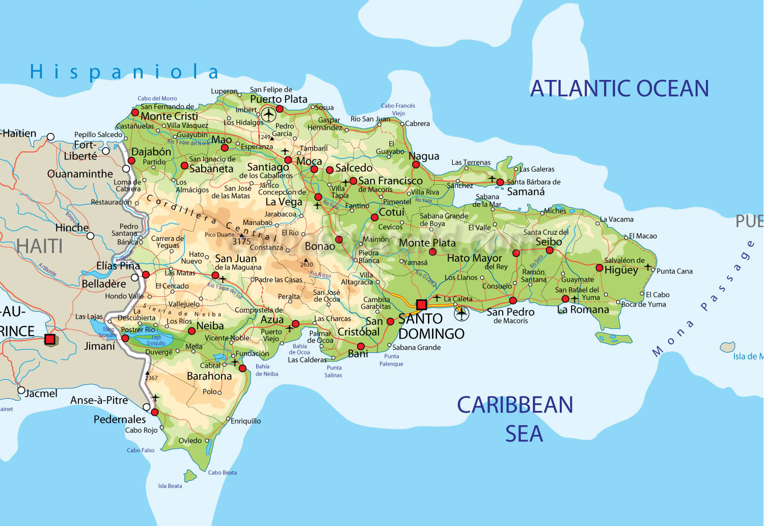 Dominican Republic Village Youth - Map of us and dominican republic
