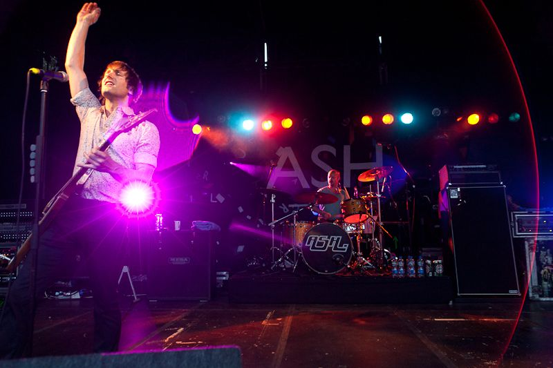 Ash performing at Leopardstown Racecourse, Dublin 18, Ireland