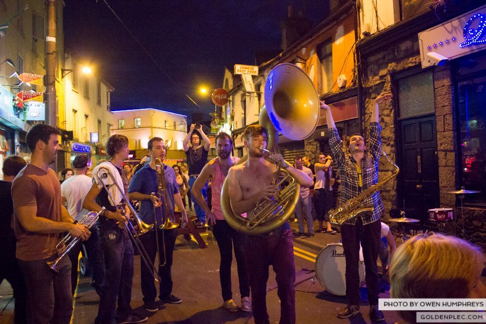 Booka Brass Band at the Roisin Dubh – Galway Arts Festival by Owen Humphreys (12 of 26)
