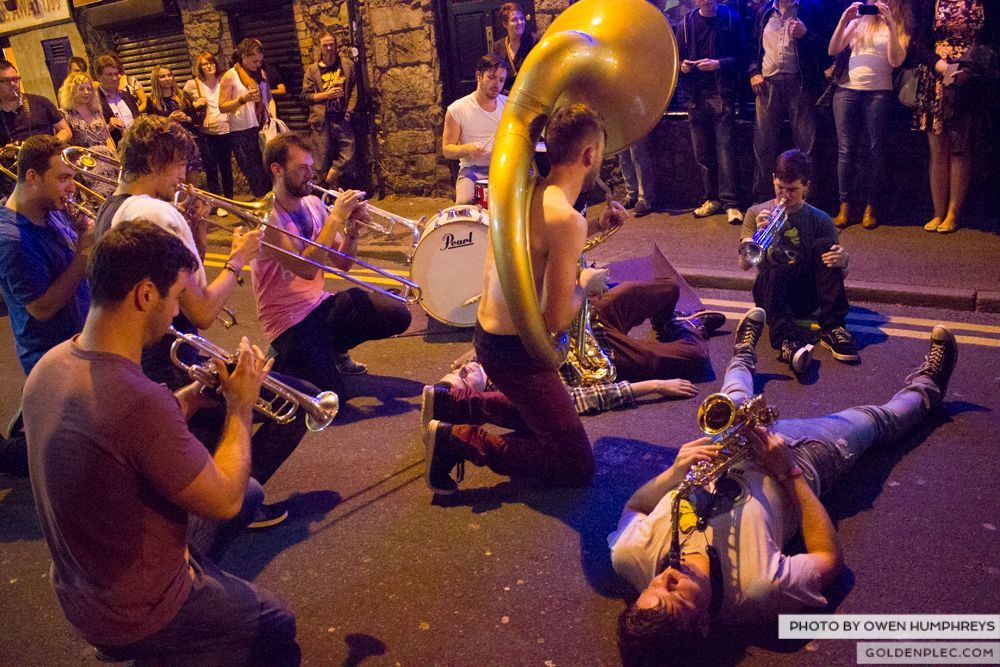 Booka Brass Band at the Roisin Dubh – Galway Arts Festival by Owen Humphreys (13 of 26)