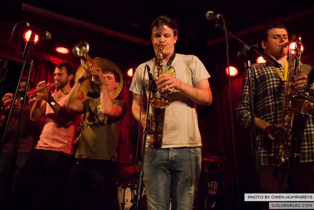 Booka Brass Band at the Roisin Dubh – Galway Arts Festival by Owen Humphreys (2 of 26)
