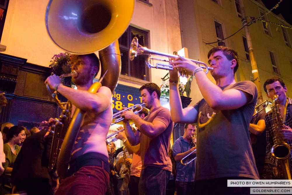 Booka Brass Band at the Roisin Dubh – Galway Arts Festival by Owen Humphreys (25 of 26)