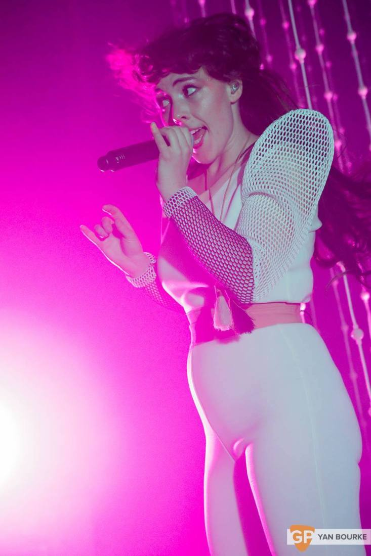 Purity Ring in The Button Factory on 4 May 2015 by Yan Bourke