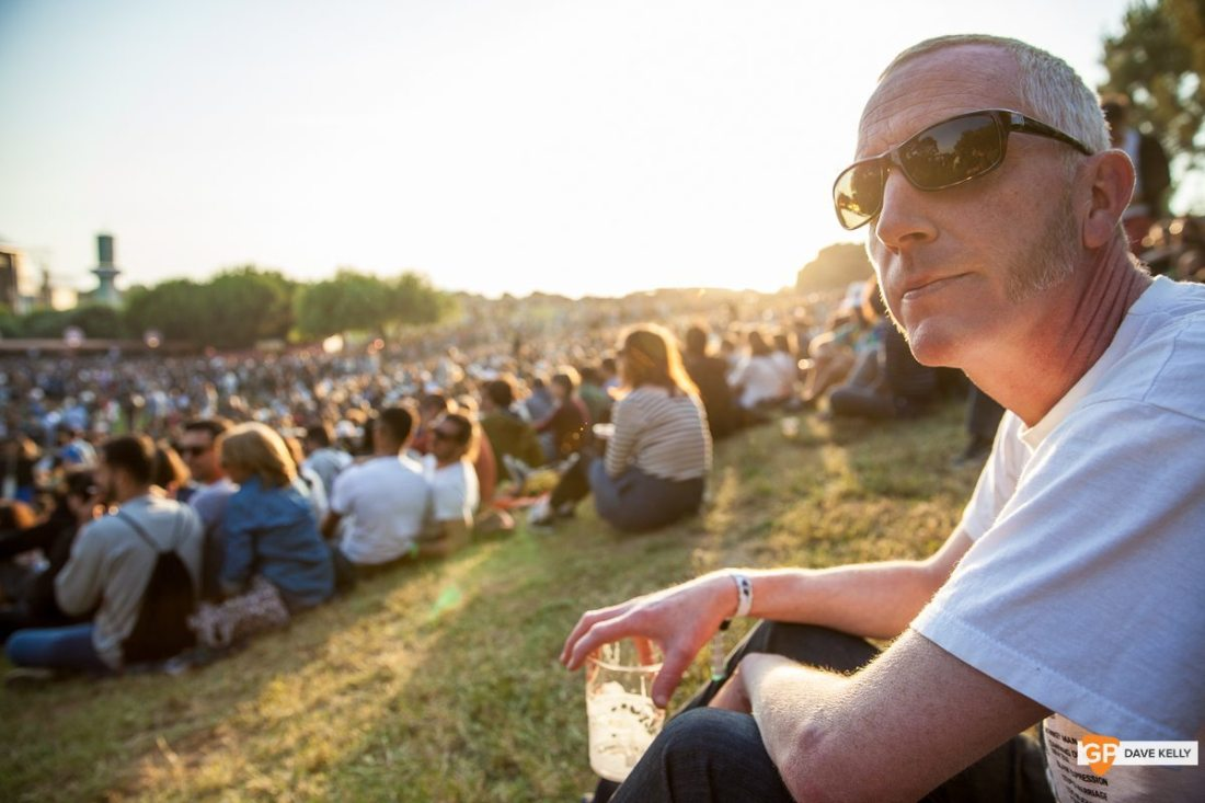 Man enjoying a beer at NOS Primavera Sound, Porto by David Kelly