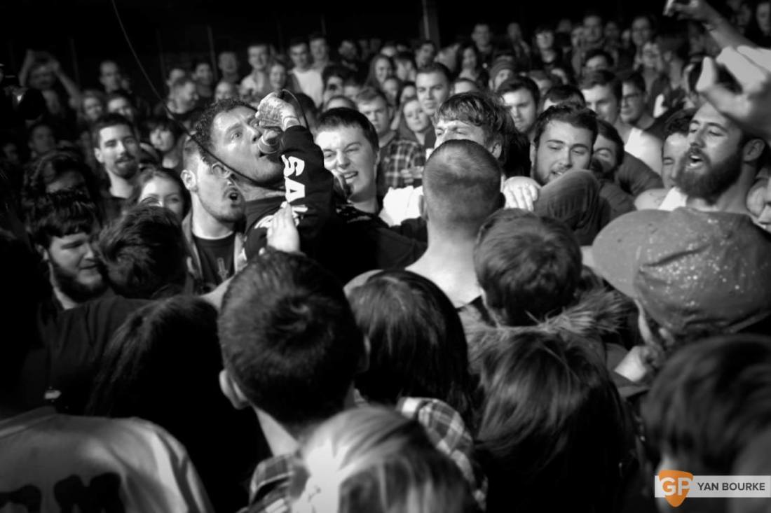 Frank Carter and the Rattlesnakes  in The Academy on 10 February 2016 by Yan Bourke-3